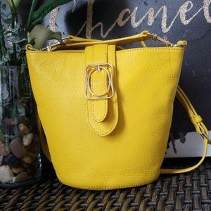 🌼 Talbots Leather Bucket Crossbody Bag